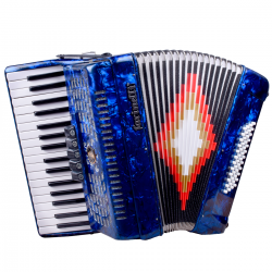 ACORDEON TECLAS AZUL 3448 5 REGISTROS FARINELLI