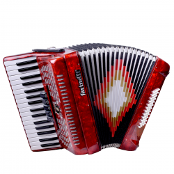 ACORDEON TECLAS ROJO 3448 5 REGISTROS FARINELLI