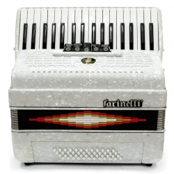 ACORDEON TECLAS BLANCO 3448 5 REGISTROS FARINELLI