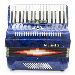 ACORDEON TECLAS AZUL 3460 5 REGISTROS FARINELLI