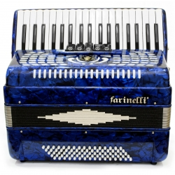 ACORDEON TECLAS AZUL 3780 5 REGISTROS FARINELLI